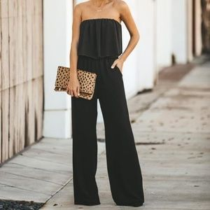 Pants - NWT STRAPLESS POCKETED JUMPSUIT